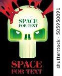 green skull on a black...   Shutterstock .eps vector #505950091