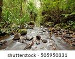waterfall  fiji  viti levu... | Shutterstock . vector #505950331