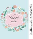 thank you vintage card. vector... | Shutterstock .eps vector #505952245