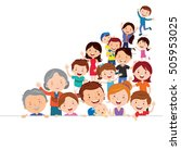 happy people with banner | Shutterstock .eps vector #505953025