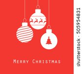 merry christmas greeting card ... | Shutterstock .eps vector #505954831