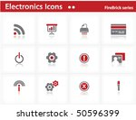electronics icons set  ... | Shutterstock .eps vector #50596399