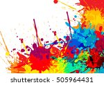abstract splatter color... | Shutterstock .eps vector #505964431