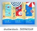 summer vacation tri fold... | Shutterstock .eps vector #505965169