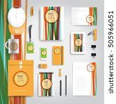 corporate identity stationery... | Shutterstock .eps vector #505966051