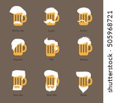 beer glass with different foams ... | Shutterstock .eps vector #505968721