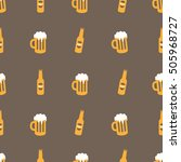 beer with foam in a mug and... | Shutterstock .eps vector #505968727