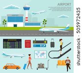 airport passenger terminal and... | Shutterstock .eps vector #505972435