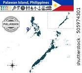 vector of palawan island ... | Shutterstock .eps vector #505974301