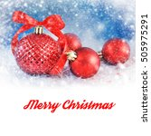 merry christmas and happy new... | Shutterstock . vector #505975291