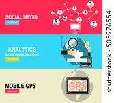 global social media.gps... | Shutterstock .eps vector #505976554