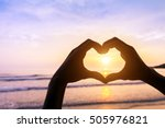 shape of heart done with... | Shutterstock . vector #505976821