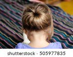 back view of baby girl  child... | Shutterstock . vector #505977835