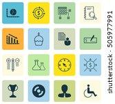 set of 16 universal editable... | Shutterstock .eps vector #505977991