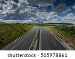motorway through fields with... | Shutterstock . vector #505978861