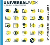 set of 25 universal editable... | Shutterstock .eps vector #505981855