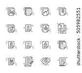 report related simple vector... | Shutterstock .eps vector #505982551