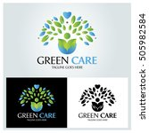 green care logo design template ... | Shutterstock .eps vector #505982584