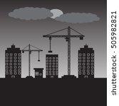 factory construction site... | Shutterstock .eps vector #505982821