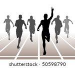 illustration of men finishing a ... | Shutterstock . vector #50598790