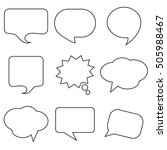 black speech bubble skech set...