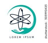 save energy atom logo nucliar... | Shutterstock .eps vector #505993435