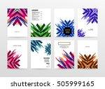 geometric background template... | Shutterstock .eps vector #505999165