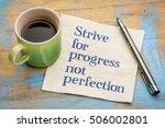 strive for progress  not...   Shutterstock . vector #506002801