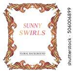 vector vintage red sunny frame... | Shutterstock .eps vector #506006899