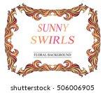 vector vintage red sunny frame... | Shutterstock .eps vector #506006905