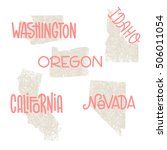 washington  idaho  oregon ...   Shutterstock .eps vector #506011054