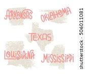 arkansas  oklahoma  texas ... | Shutterstock .eps vector #506011081