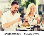 love  date  technology  people... | Shutterstock . vector #506016991