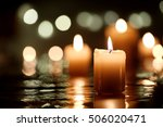 Burning Candle With Reflection...