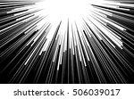 light rays. comic book black... | Shutterstock .eps vector #506039017