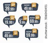 sale stickers. | Shutterstock .eps vector #506043451