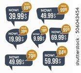 sale stickers. | Shutterstock .eps vector #506043454