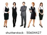 young business people over... | Shutterstock . vector #50604427