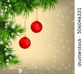 golden christmas and new year... | Shutterstock . vector #506046331