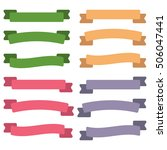set of  colorful empty ribbons... | Shutterstock . vector #506047441