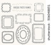 collection of hand drawn photo... | Shutterstock .eps vector #506048851