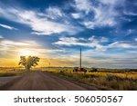 Sunrise In Rural Wyoming Near...