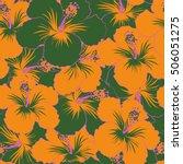 bright hawaiian design with... | Shutterstock .eps vector #506051275