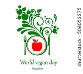 world vegetarian day.  november ... | Shutterstock .eps vector #506053375
