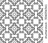 line ornament pattern. black... | Shutterstock .eps vector #506056561