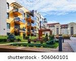 modern complex of apartment...   Shutterstock . vector #506060101