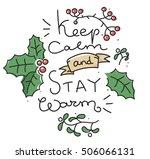 winter inspirational card ... | Shutterstock .eps vector #506066131