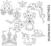 fairytale princess  knight ... | Shutterstock .eps vector #506074831