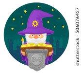 vector illustration of a magic...   Shutterstock .eps vector #506076427