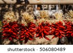 Red Peppers in Santa Fe, New Mexico